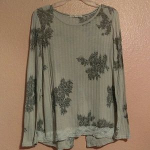 Rewind braided lace embellished blouse
